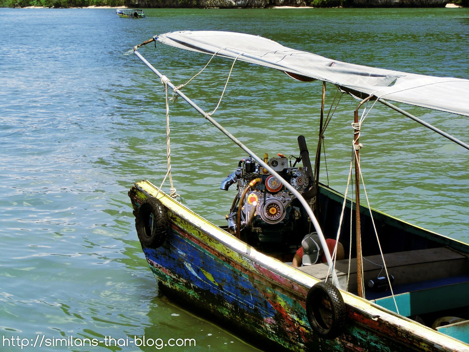 old boat with pimped motor
