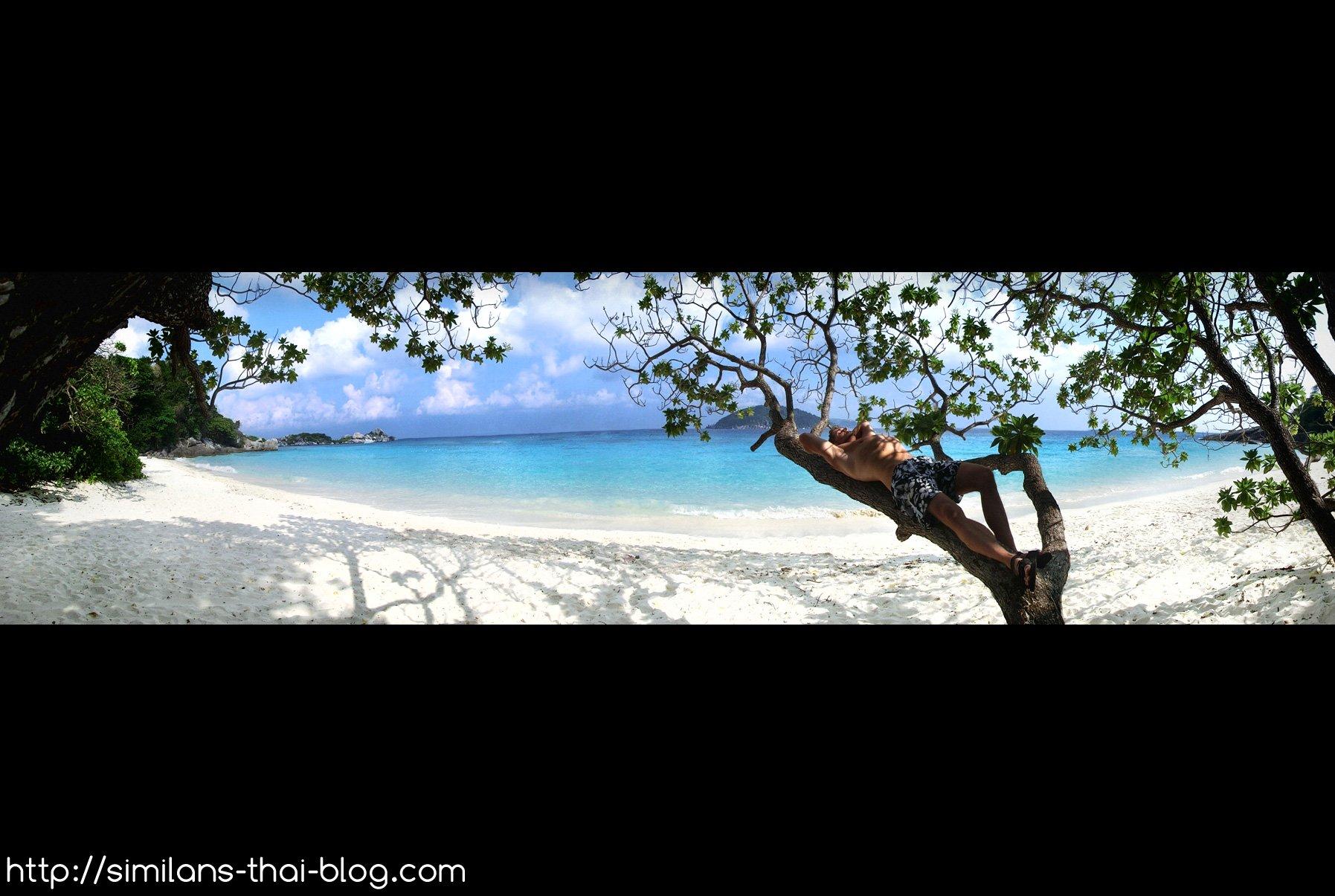 similan island nr. 4 beach panorama