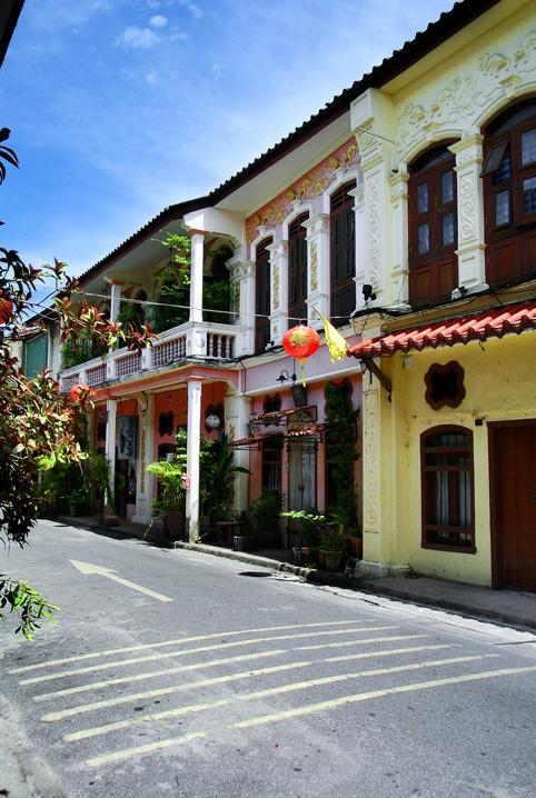 Soi Romanee in Phucket Altstadt