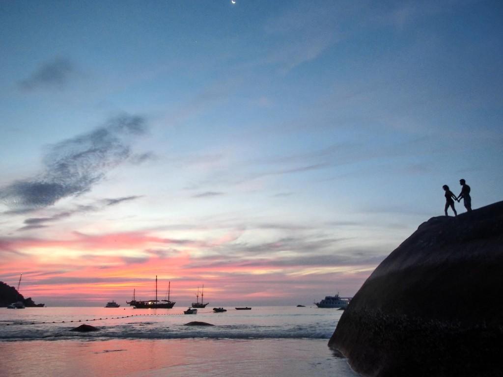 Sonnenuntergang auf Koh similan Insel Nimmer 8
